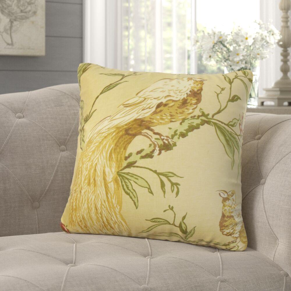 Jennifer Floral Throw Pillow Color: Autumn, Size: 20