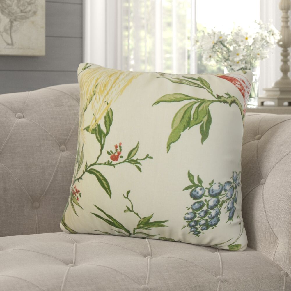 Jennifer Floral Throw Pillow Color: Multi, Size: 20