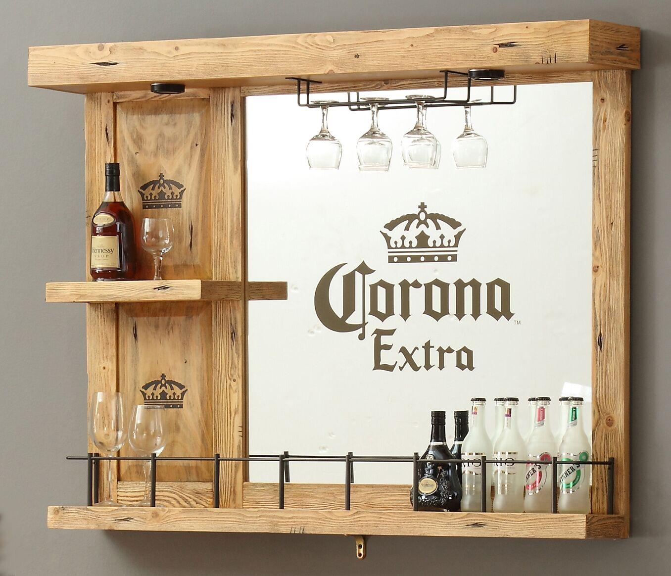 Corona Wall Bar with Wine Storage