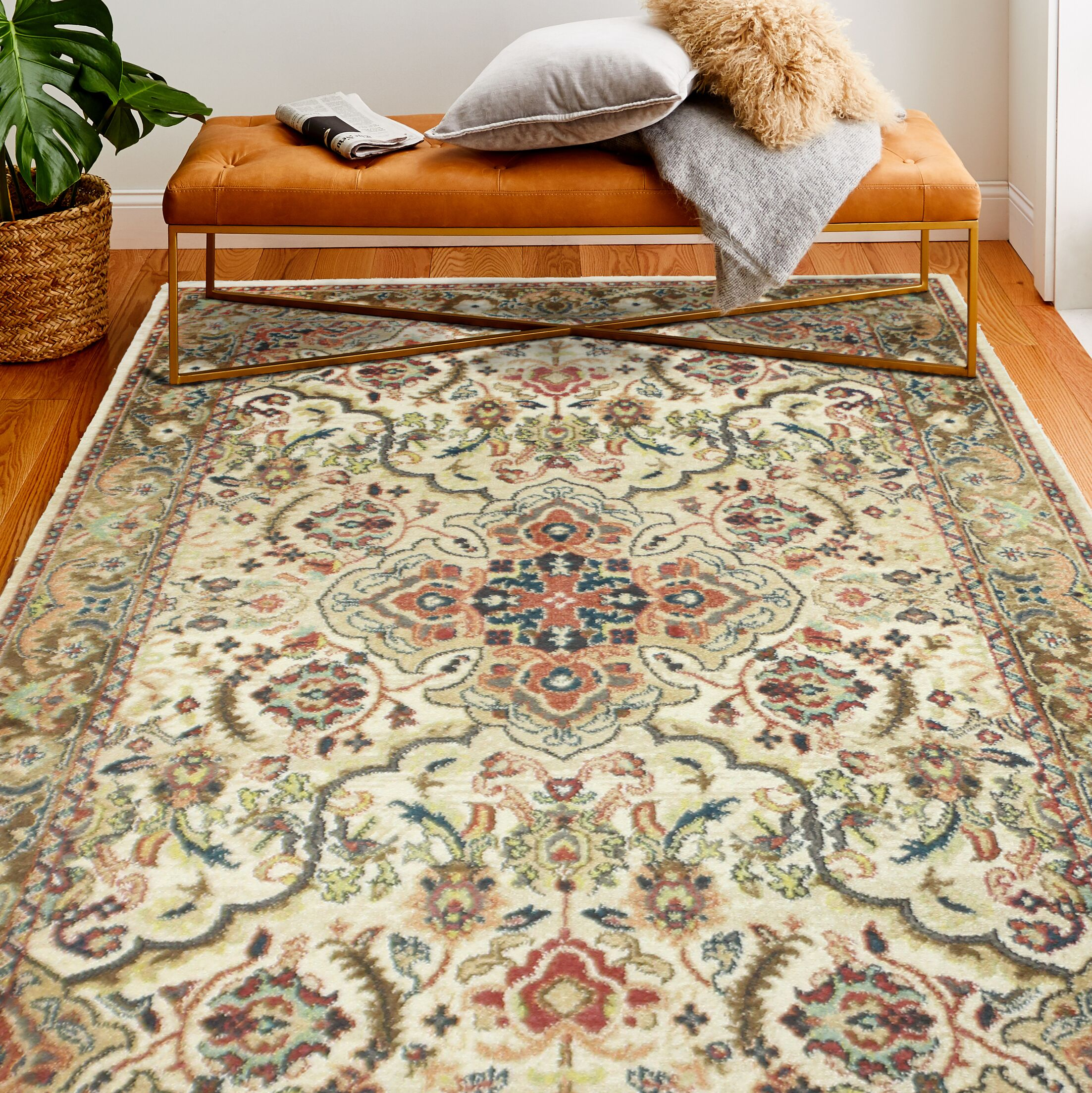 Janelle Beige Area Rug Rug Size: Rectangle 9'4