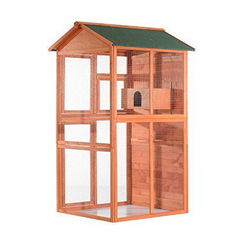 Filbert Flight House Outdoor Aviary Bird Cage with Nesting Box