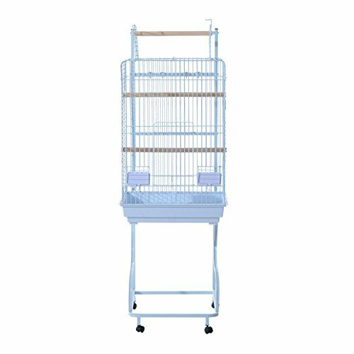 Flounder Rolling Bird Cage Starter Kit with Caster Color: White