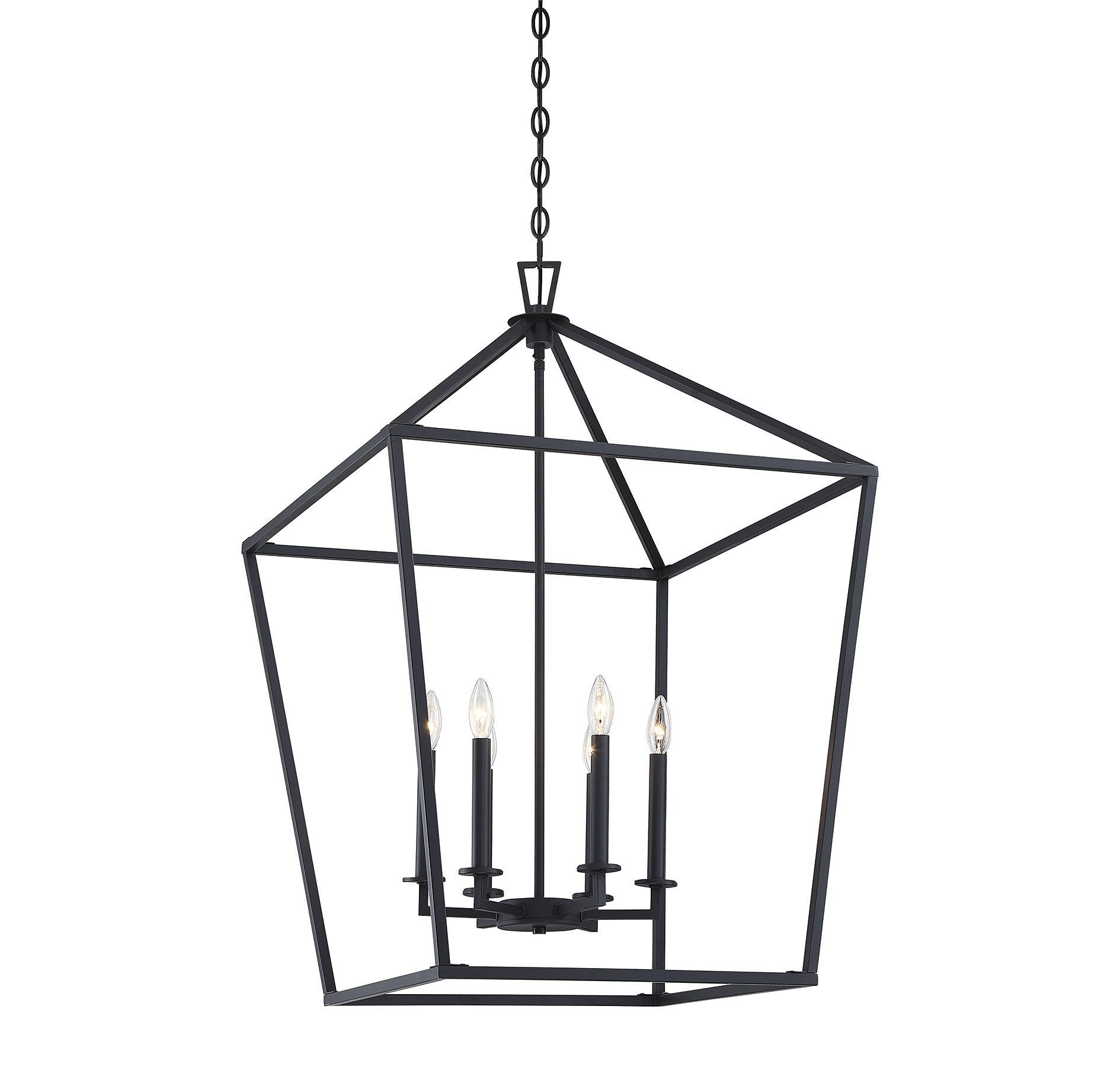 Israel 6-Light Lantern Pendant Finish: Matte Black