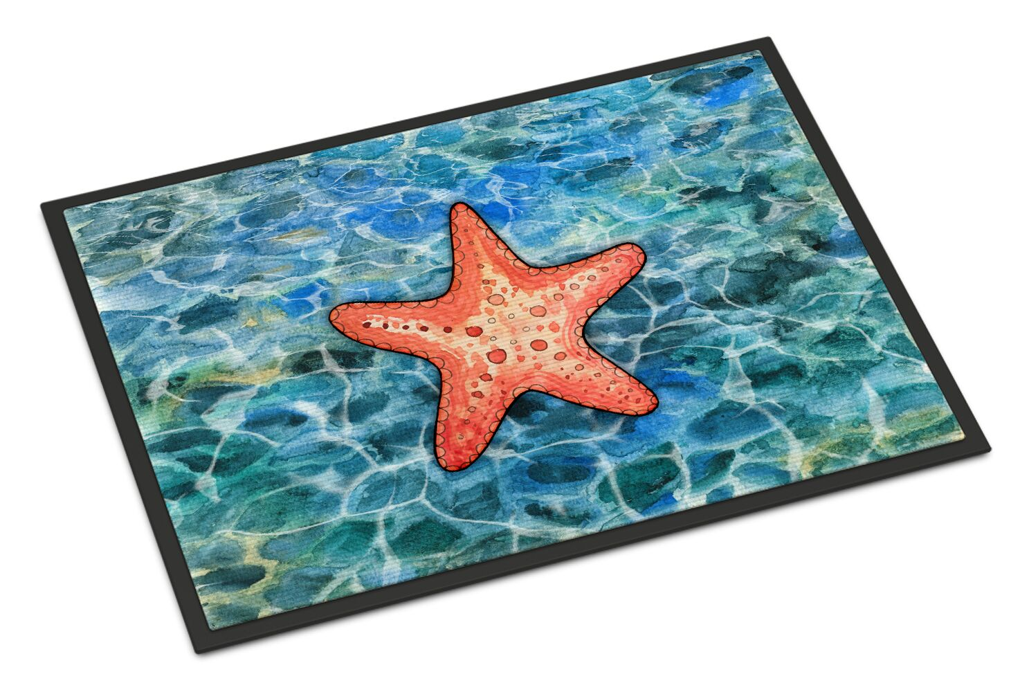 Starfish Doormat Size: Rectangle 18
