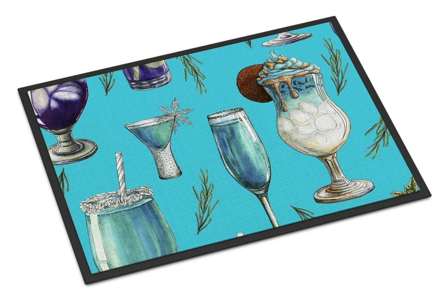 Cocktails Doormat Color: Blue