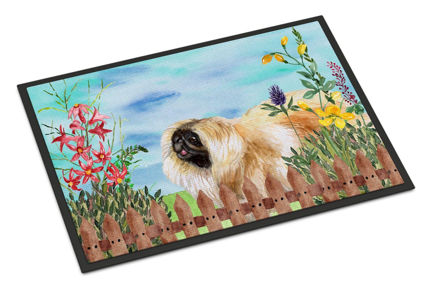 Pekingese Spring Doormat