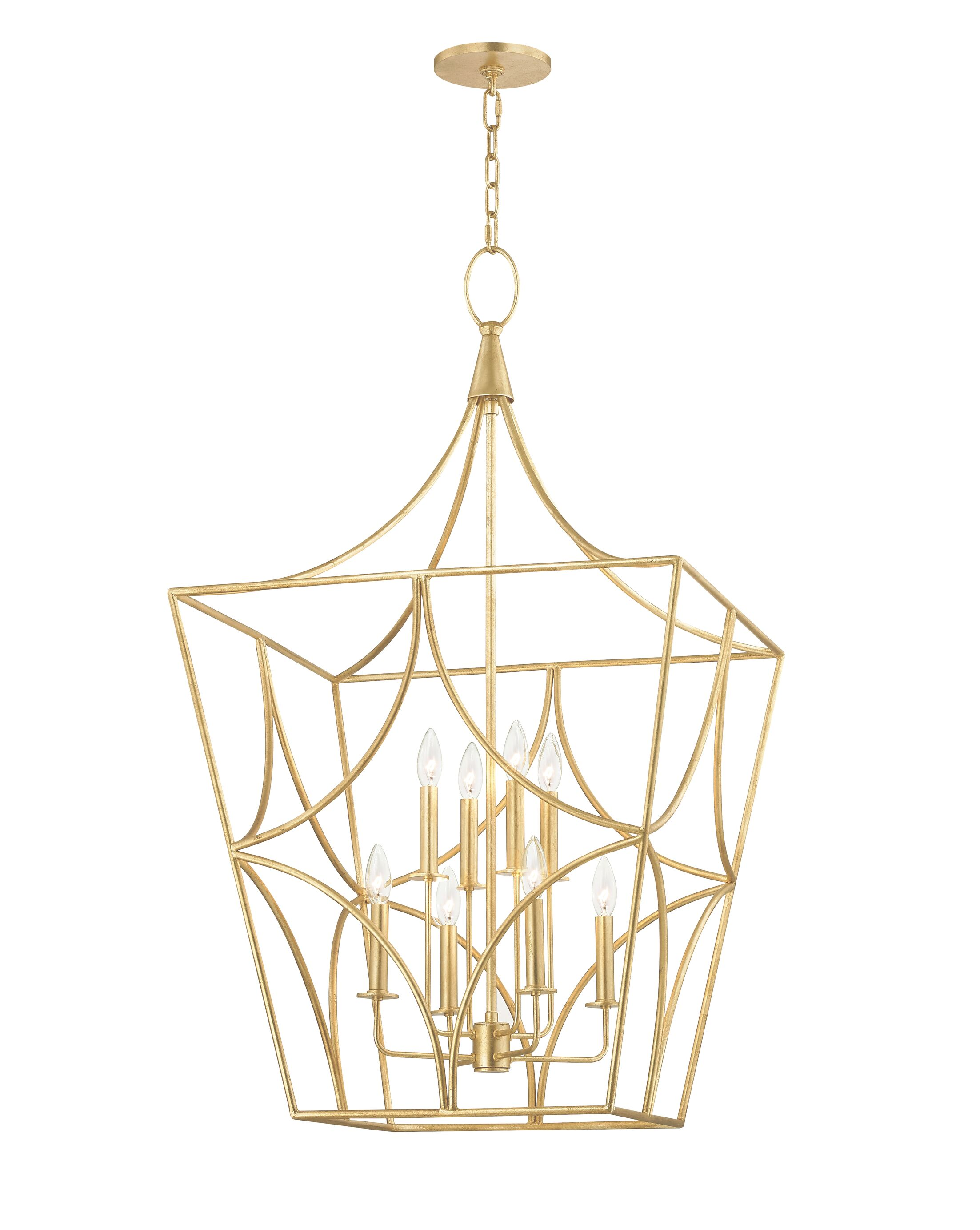 Rutledge 8-Light Lantern Pendant Finish: Gold Leaf