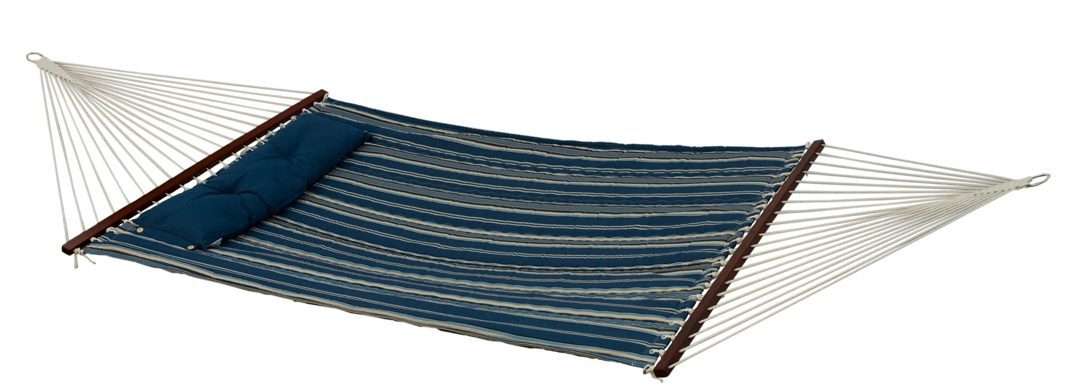 Calla Double Quilted Tree Hammock Color: Blue/Black