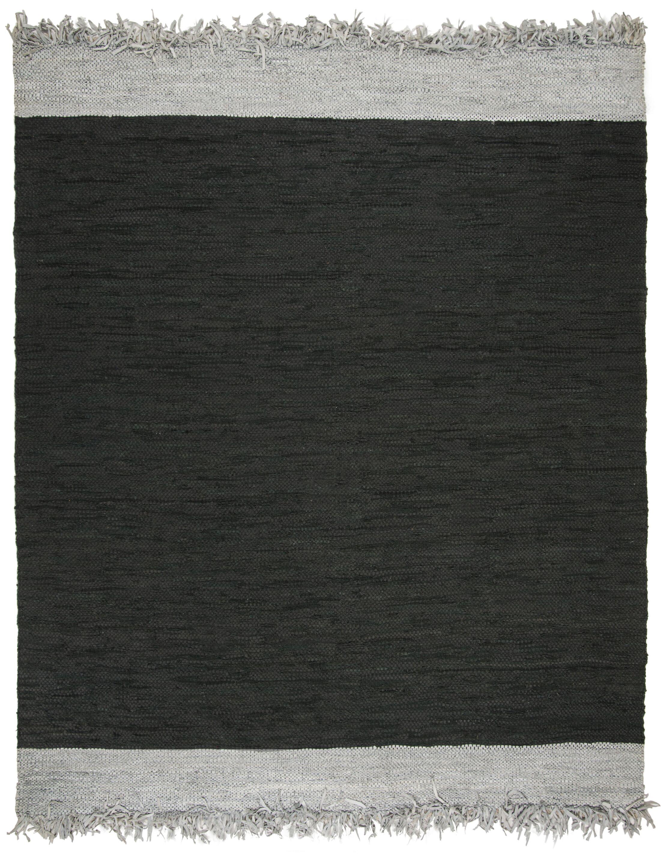 Dahlia Handwoven Vintage Light Gray/Black Area Rug Rug Size: Rectangle 4' x 6'