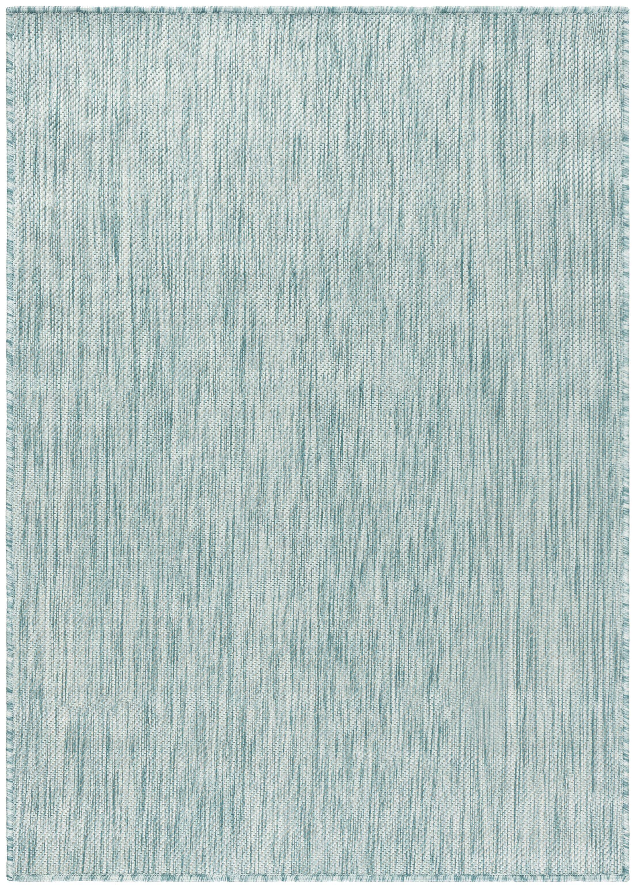 Ephraim Aqua Indoor/Outdoor Area Rug Rug Size: Square6'7