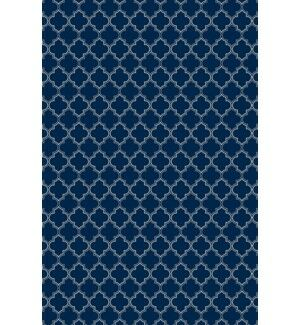 Fay Quatrefoil Design Blue/White Indoor/Outdoor Area Rug Rug Size: Rectangle 5' x 7'