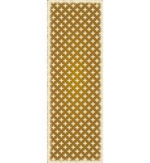 Jaime Elegant Cross Design Brown/Cream Indoor/Outdoor Area Rug Rug Size: Runner 2' x 6'