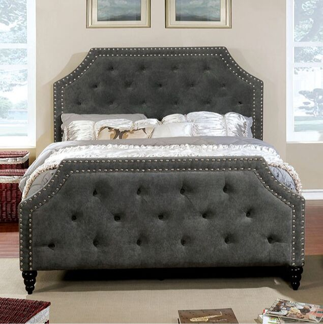 Gough Upholstered Panel Bed Size: California King