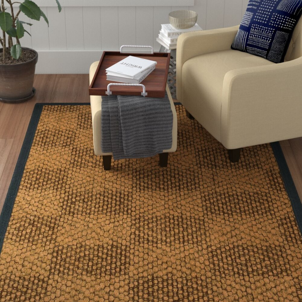 Hearne Hand Woven Brown Area Rug Rug Size: Rectangle 8' X 10'
