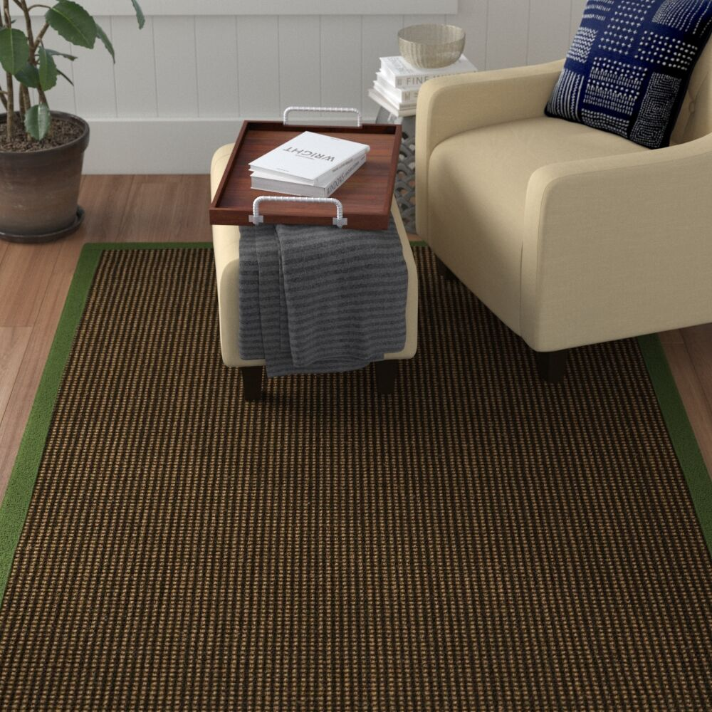 Hedlund Hand Woven Brown Area Rug Rug Size: Rectangle 12' x 15'