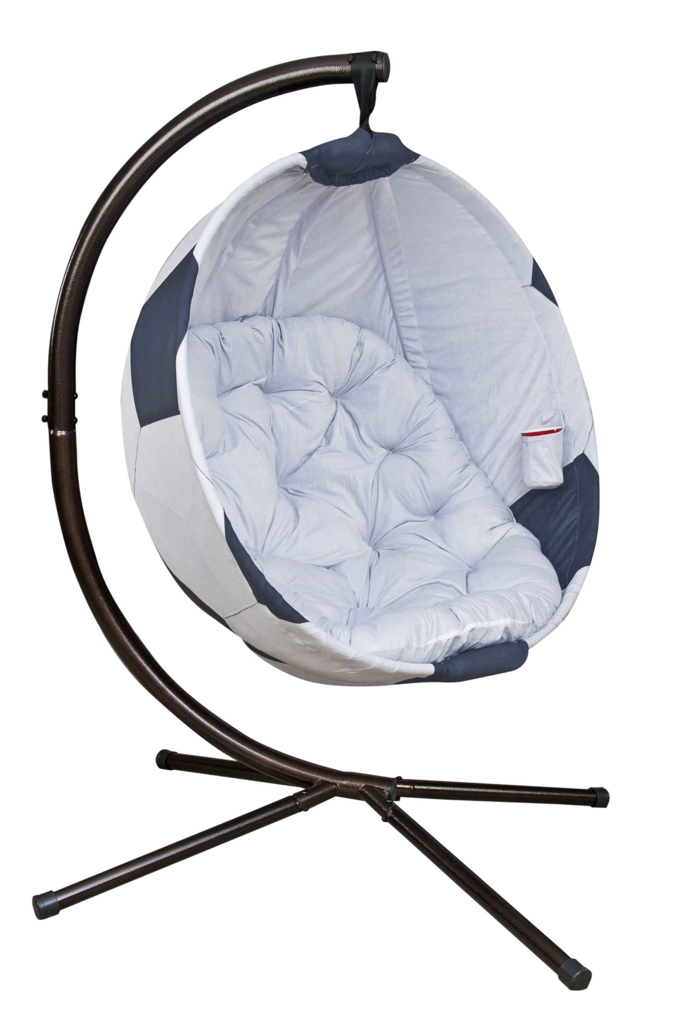 Sports Swing Chair with Stand Color: Black