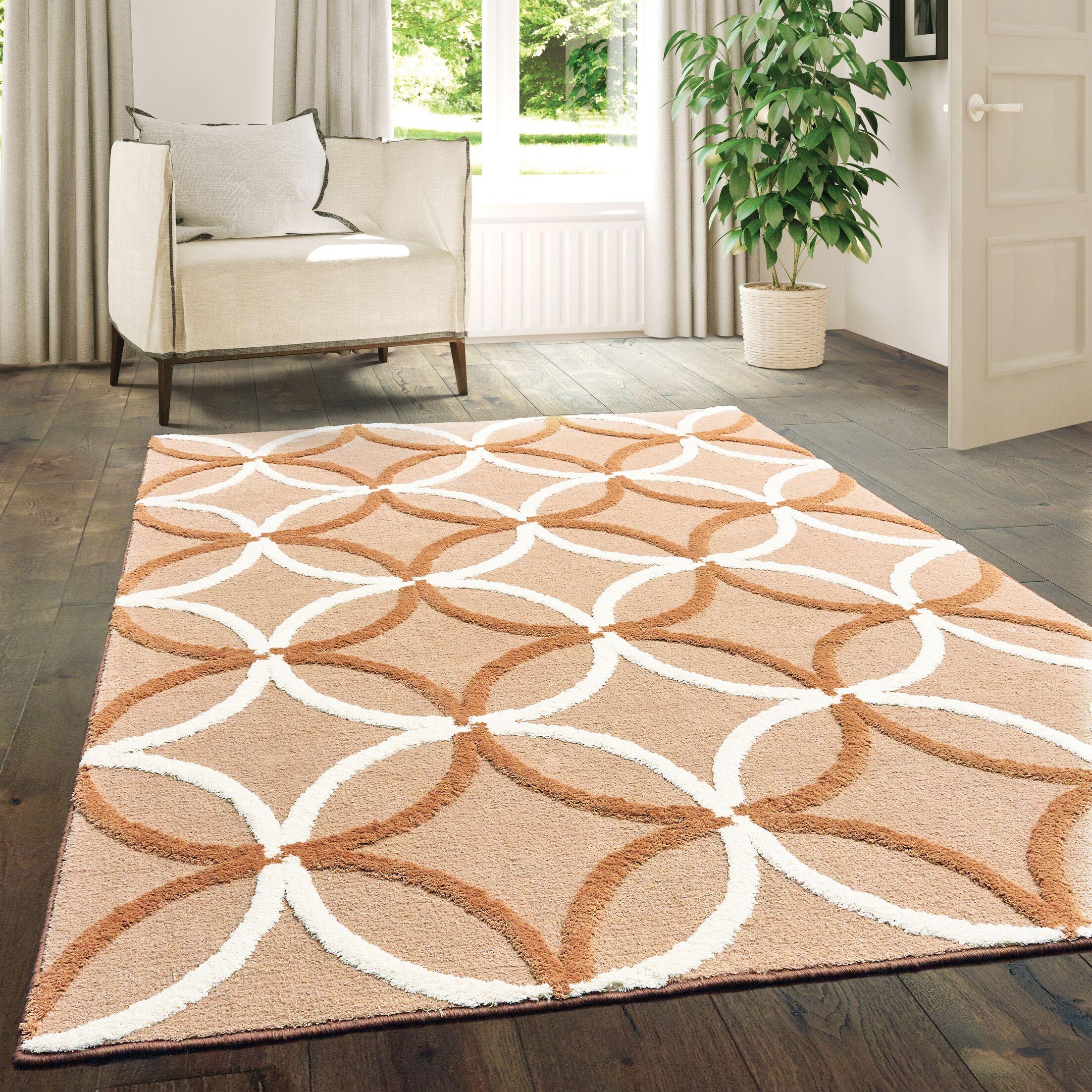 Alhambra Beige Area Rug Rug Size: Rectangle5'3