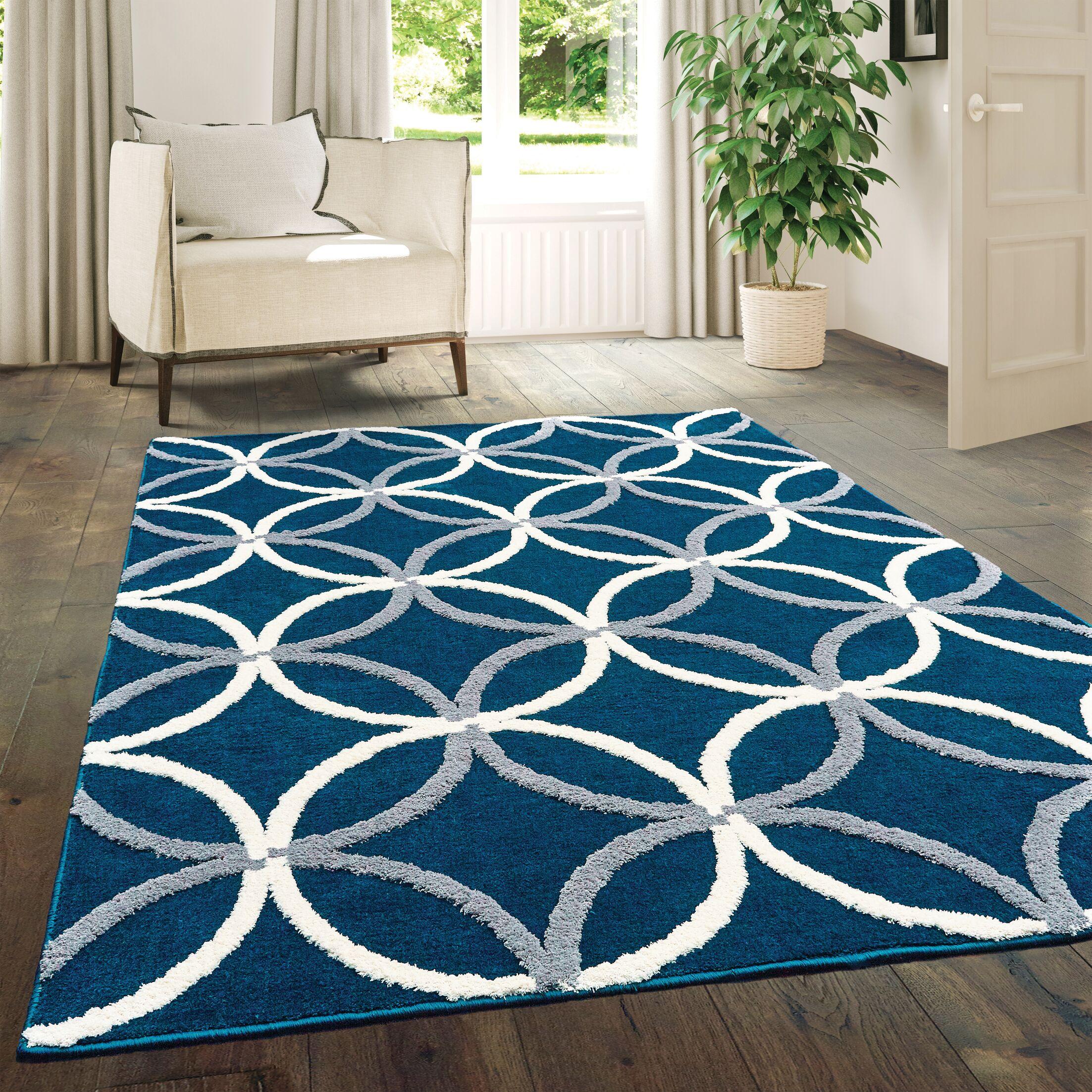 Alhambra Denim/Blue Area Rug Rug Size: Rectangle5'3