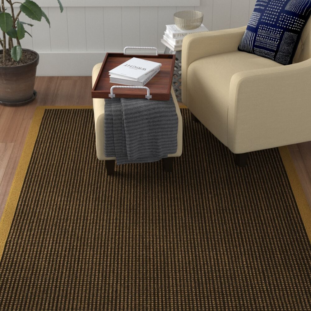 Hedlund Hand Woven Brown Area Rug Rug Size: Rectangle 4' X 6'