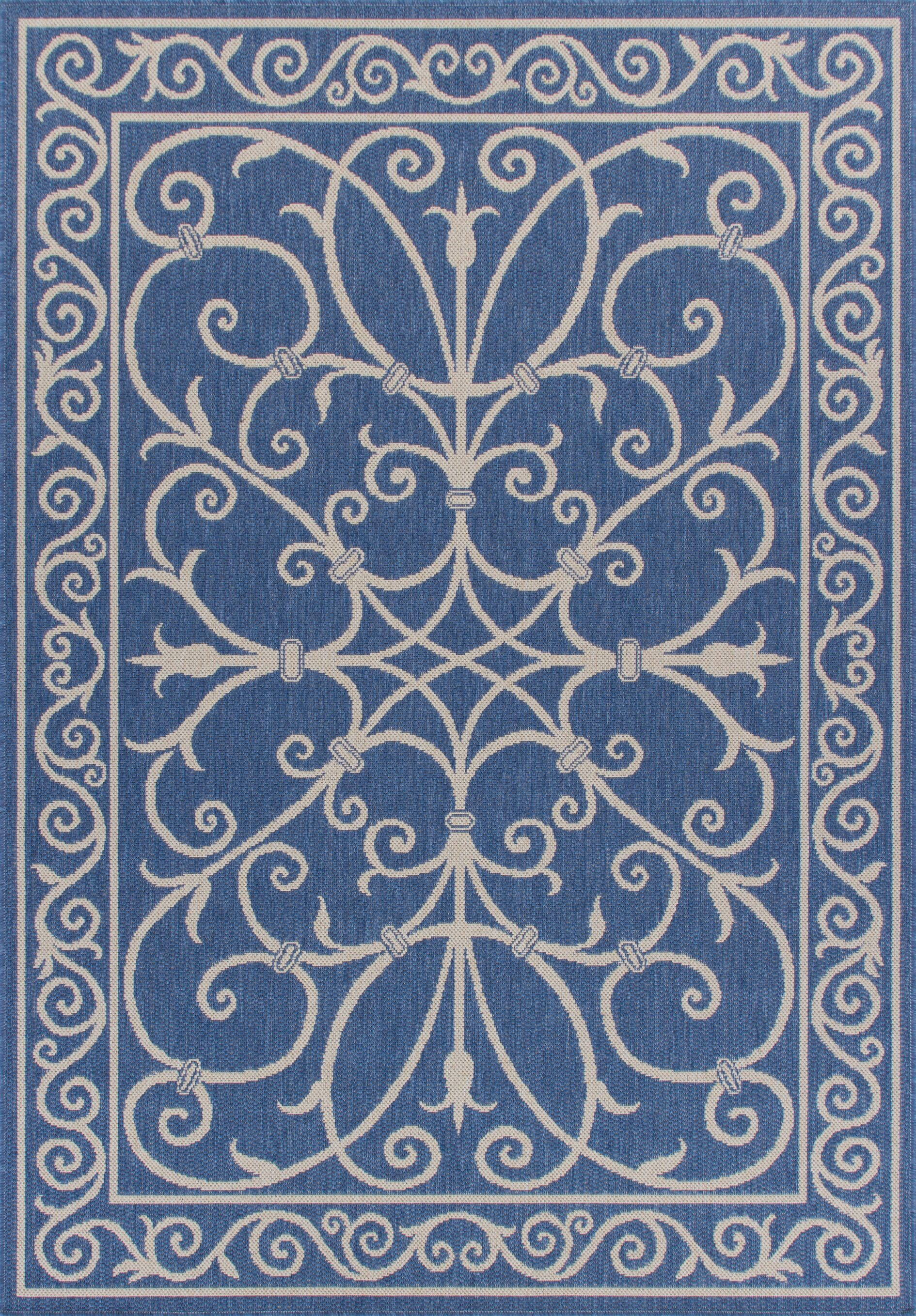 Ricky Weather-Proof Blue Indoor/Outdoor Area Rug Rug Size: Rectangle 6'x9'