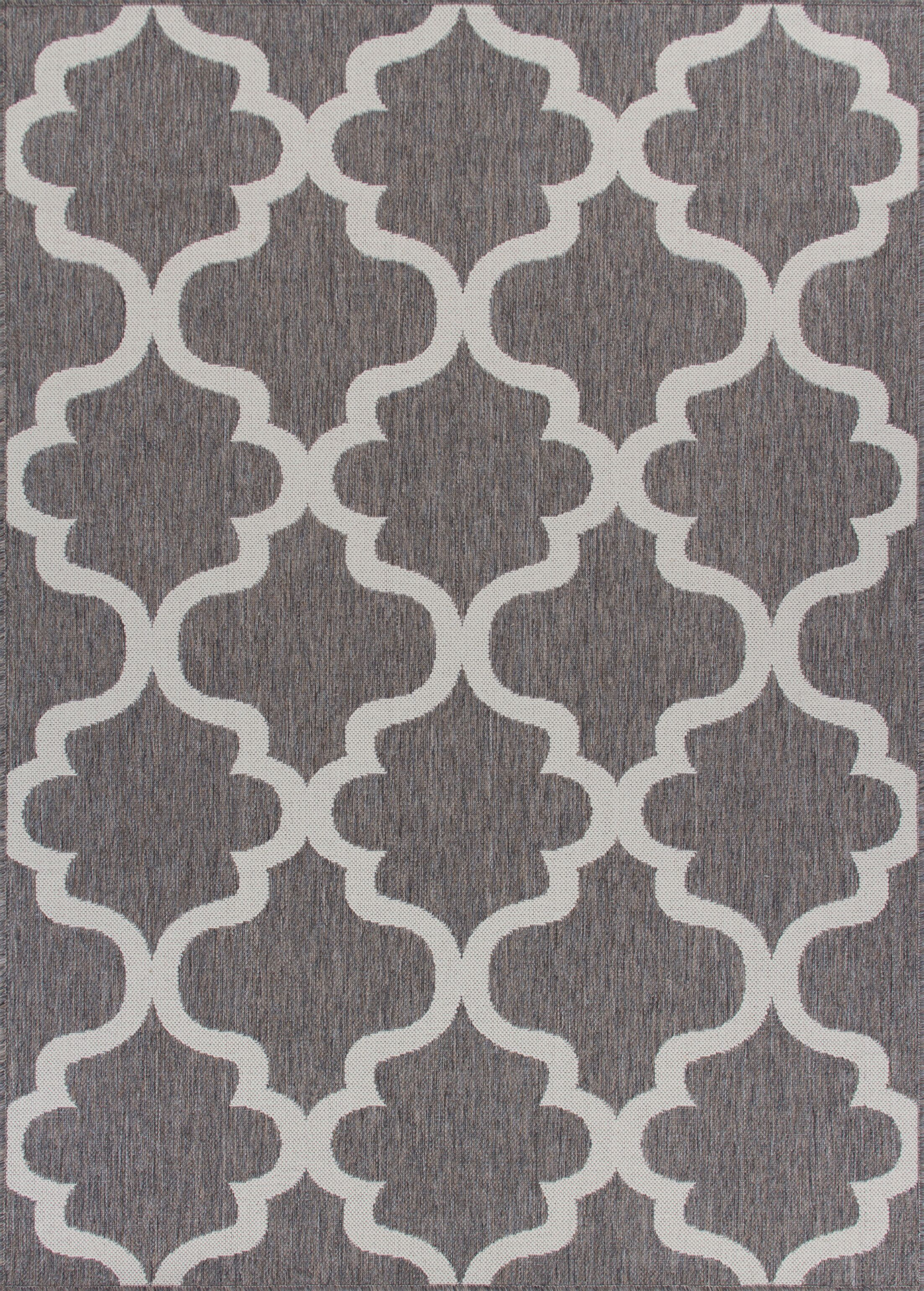 Ricky Weather-Proof Gray Indoor/Outdoor Area Rug Rug Size: Rectangle 6'x9'