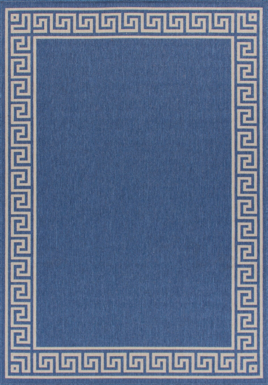 Titan Weather-Proof Blue Indoor/Outdoor Area Rug Rug Size: Rectangle 6'x9'