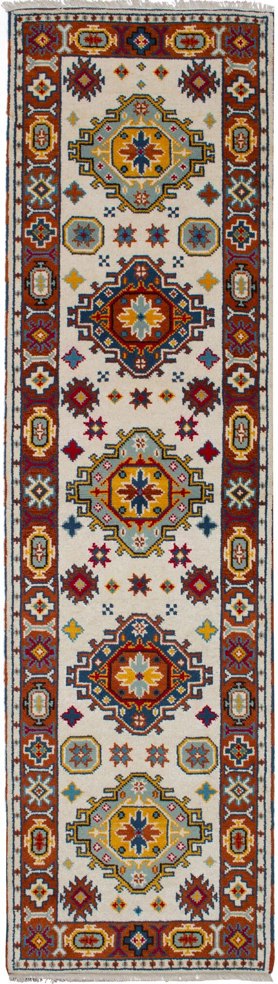 One-of-a-Kind Doering Hand-Knotted Wool Cream Area Rug