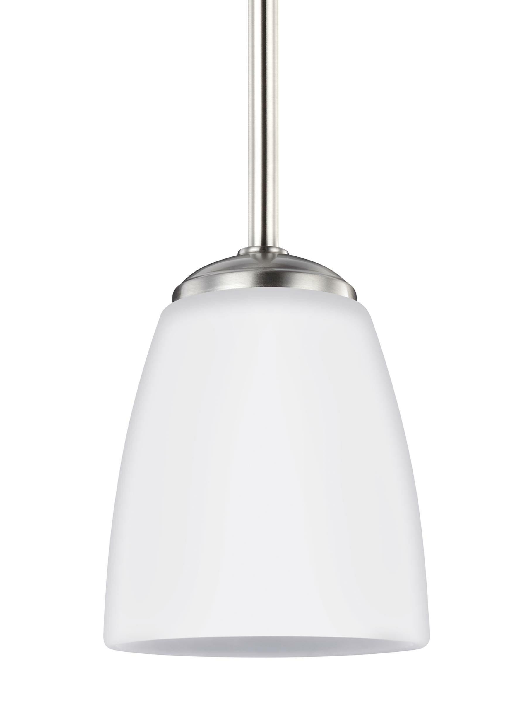 Zoltán 1-Light Cone Pendant Finish: Brushed Nickel