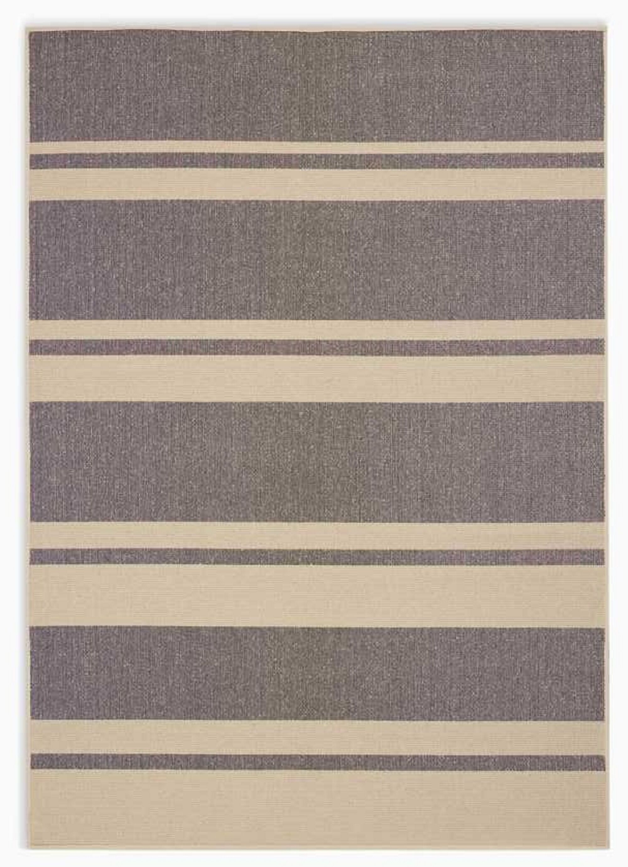 San Diego CK730 Striped Handwoven Flatweave Beige/Black Area Rug Rug Size: Rectangle 8' x 10'
