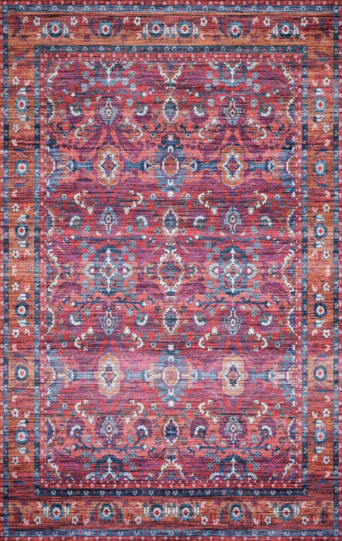 Cielo Berry/Tangerine Area Rug Rug Size: Rectangle 8' x 10'