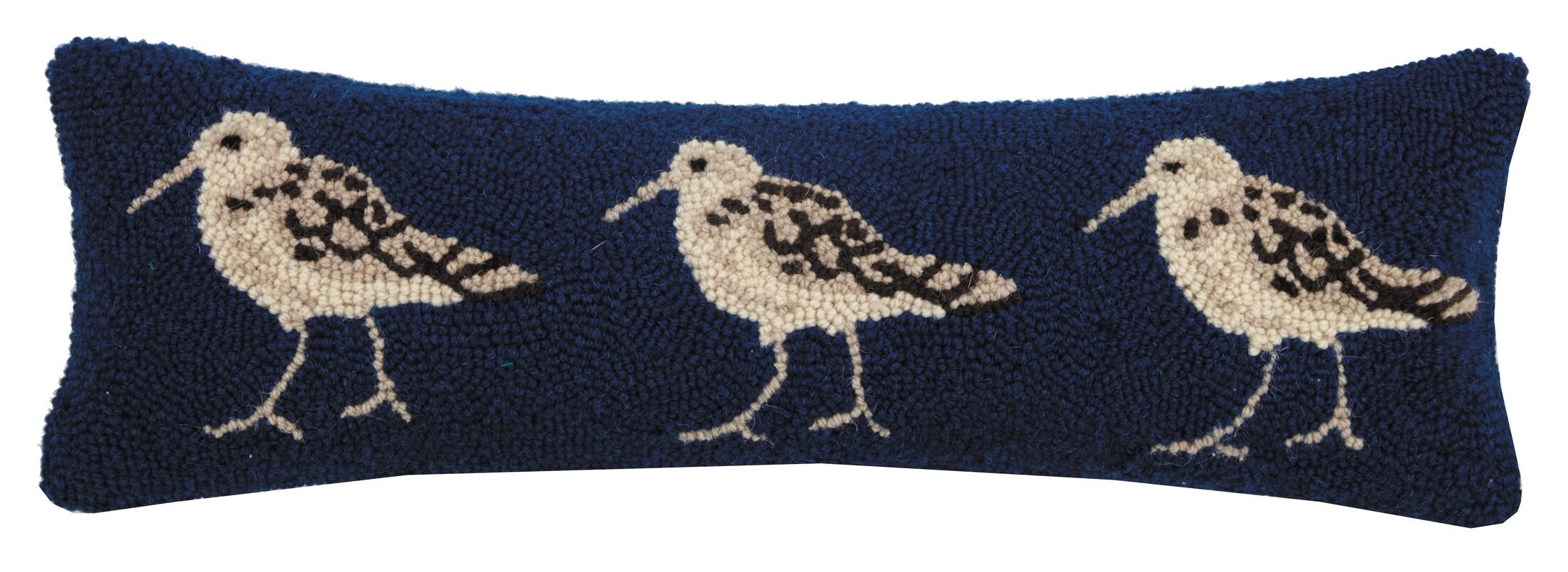 Haylie Sand Pipers Hook Wool Lumbar Pillow