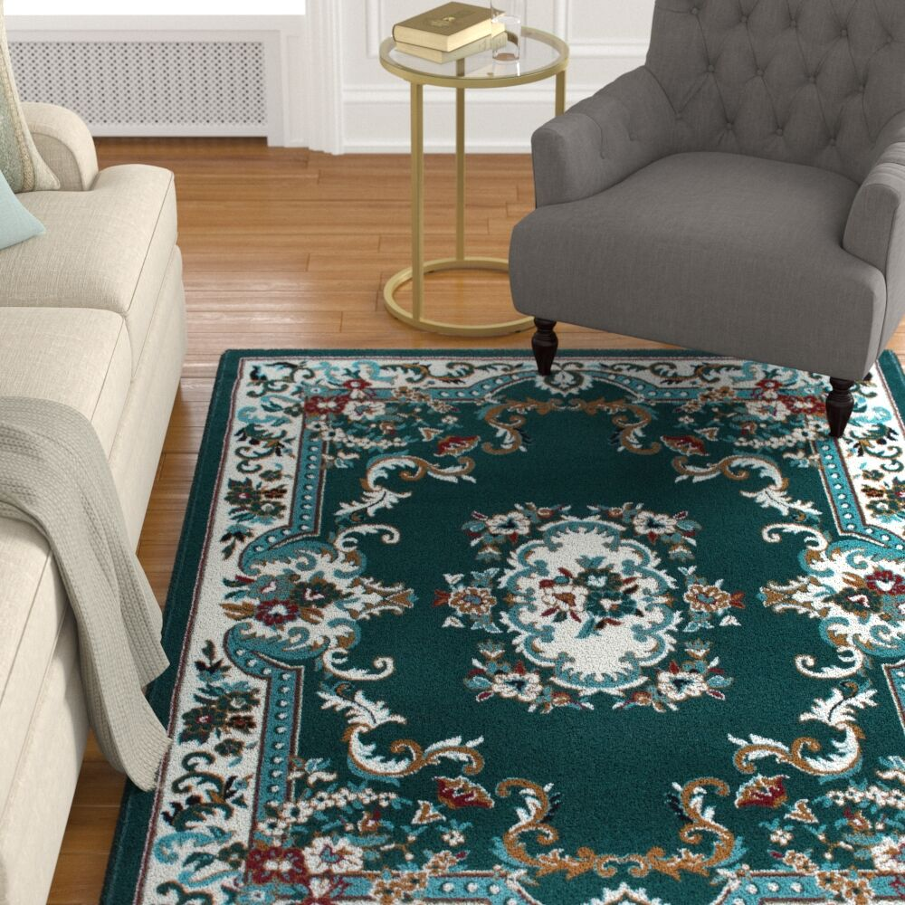 Lilly Hunter Green Area Rug Rug Size: Rectangle 7'8