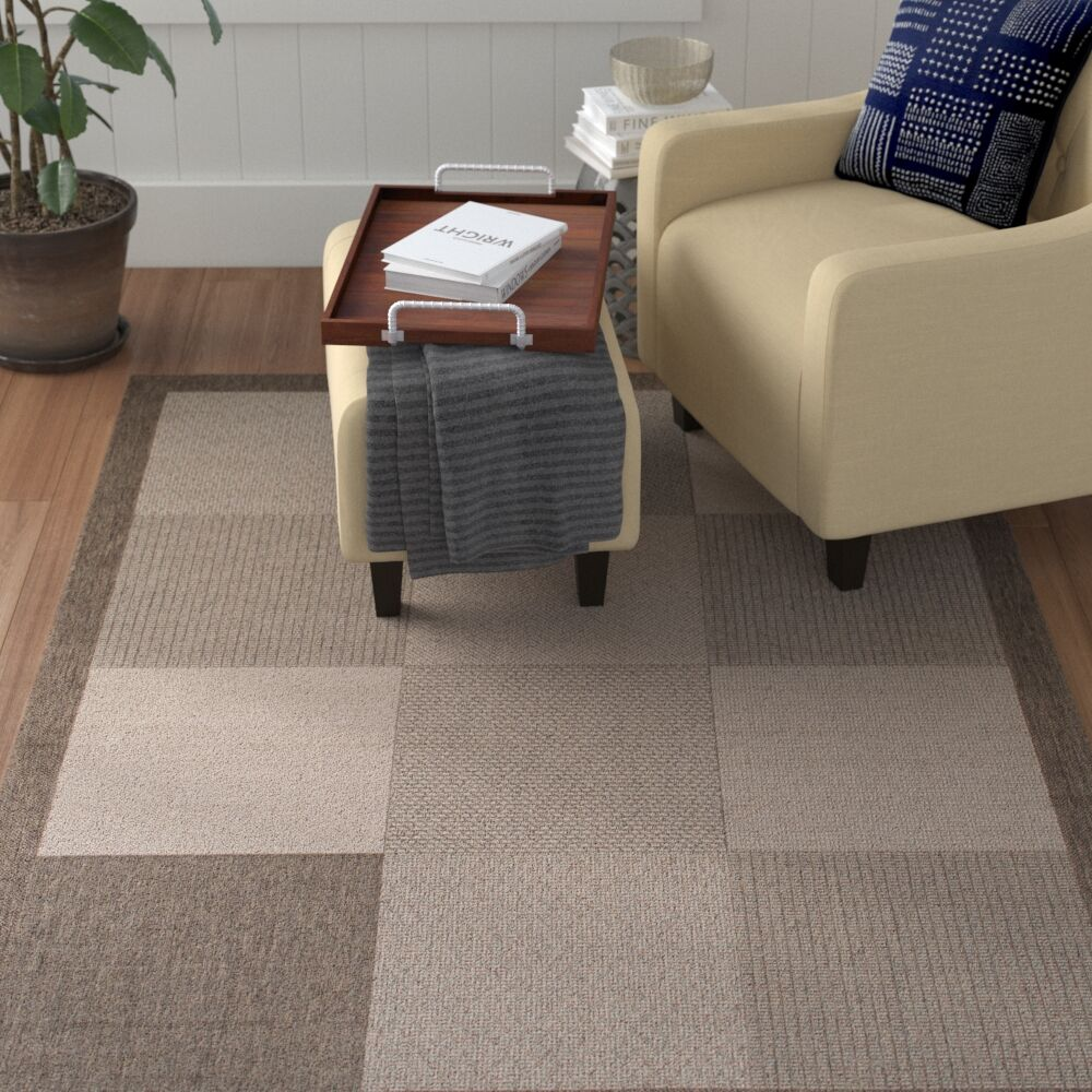 Russo All Weather Indoor/Outdoor Mocha Area Rug Rug Size: 7'10