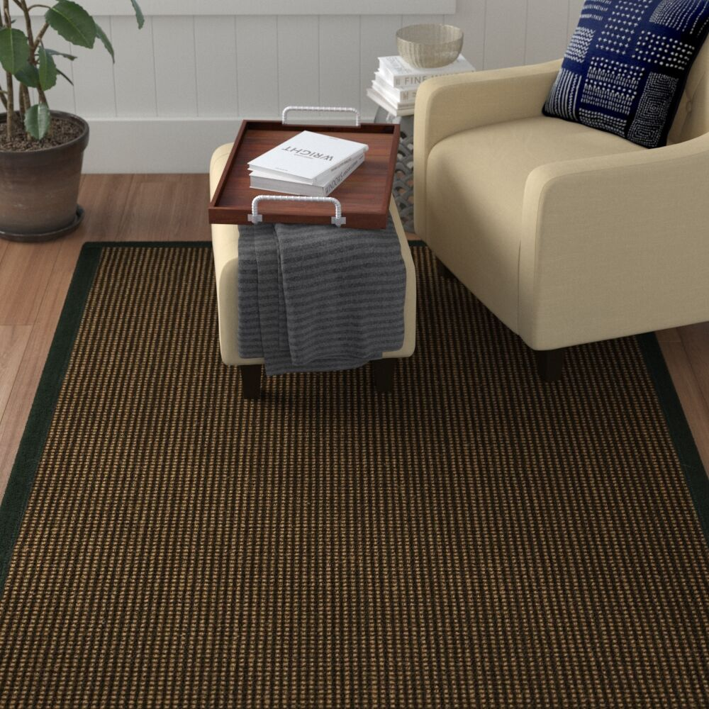 Hedlund Hand Woven Brown Area Rug Rug Size: Rectangle 2' X 3'