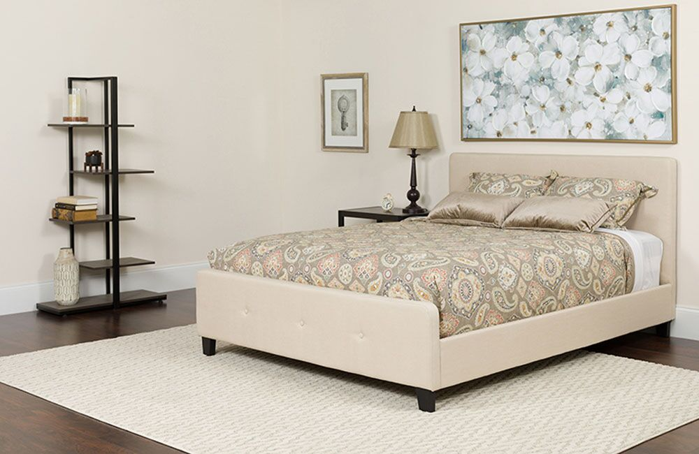 Beyonce Tufted Upholstered Platform Bed with Mattress Color: Beige, Size: Twin