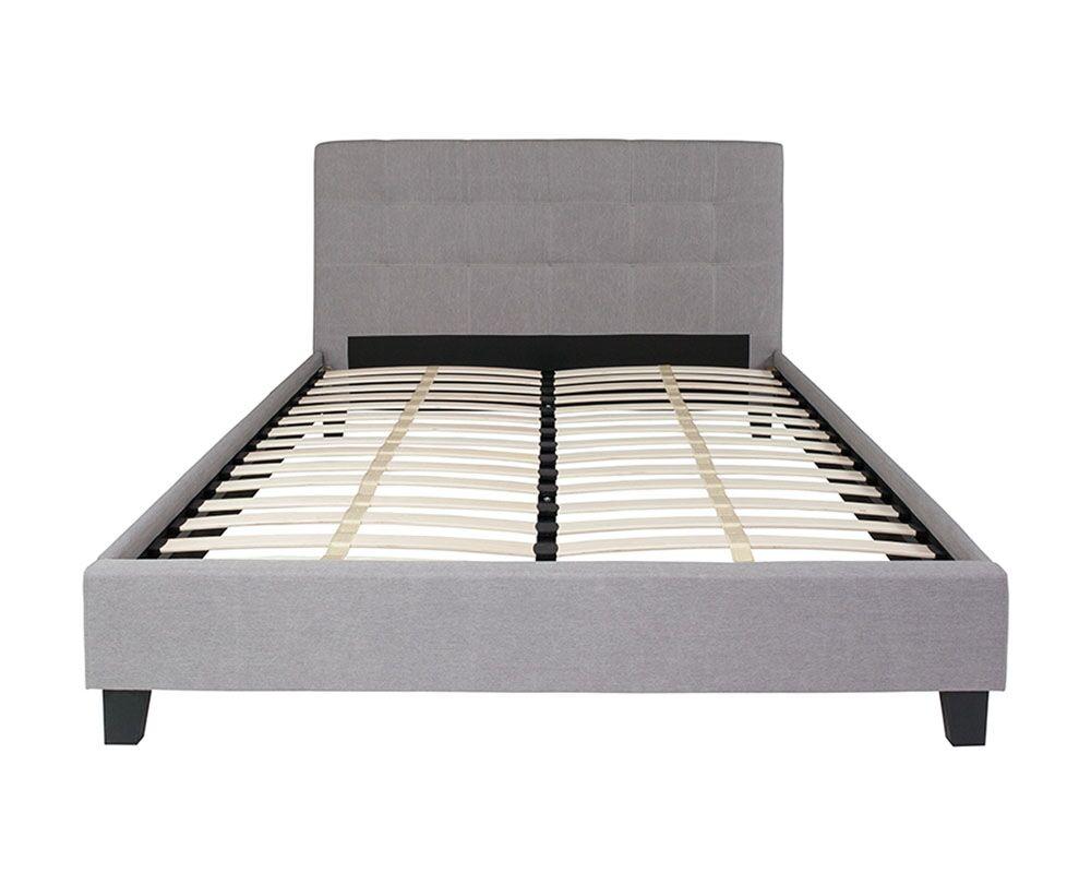 Adira Upholstered Platform Bed Color: Light Gray, Size: Queen