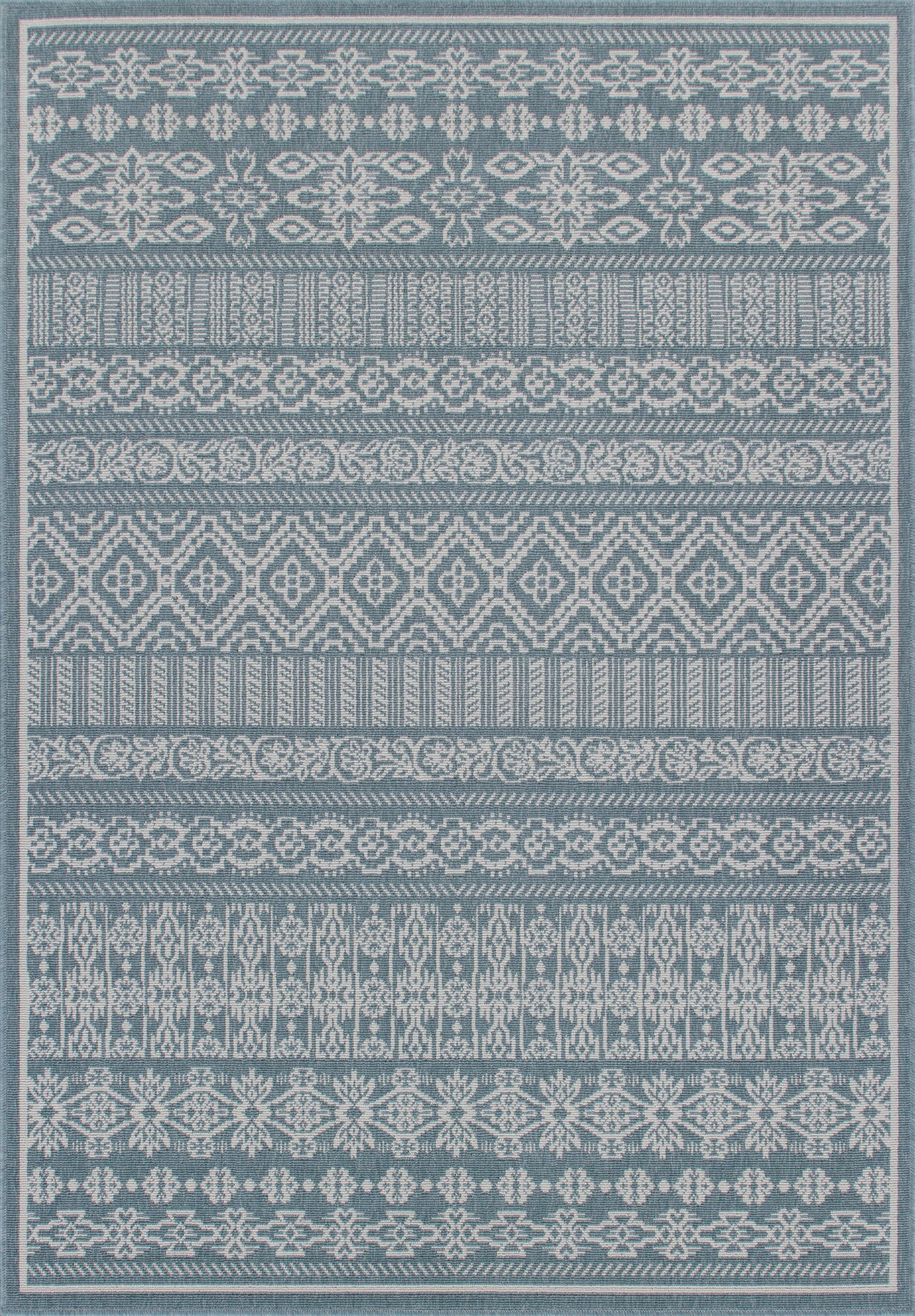 Rosado Weather-Proof Blue Indoor/Outdoor Area Rug Rug Size: Rectangle 5'1