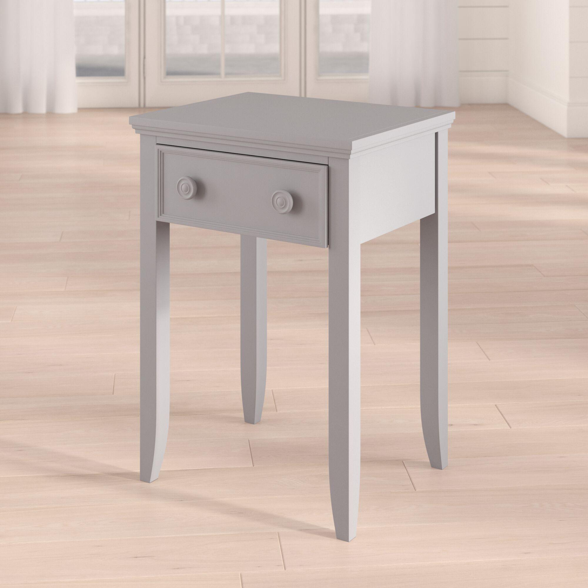 Baileyville 1 Wood Drawer Nightstand Color: Winter Gray