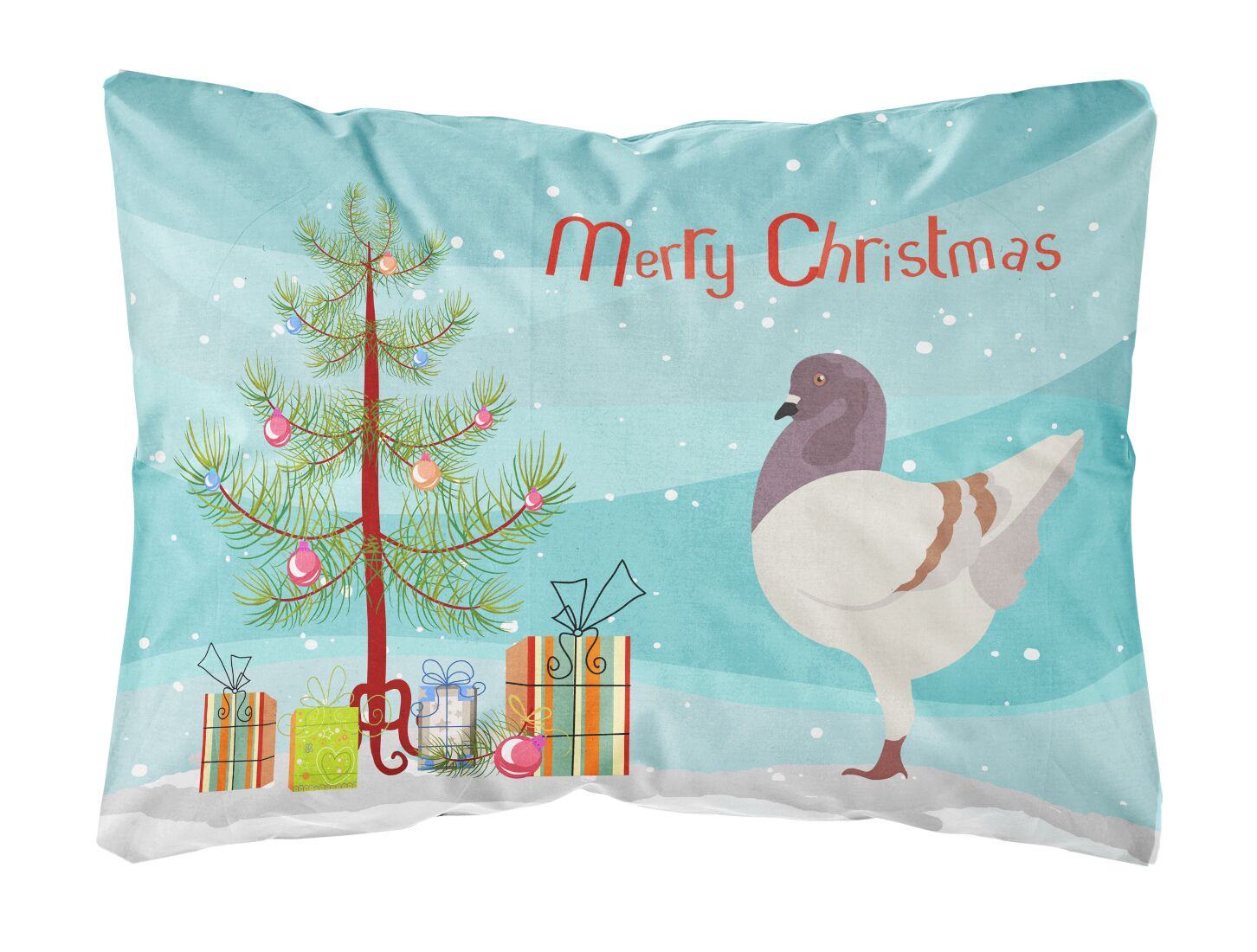 Malta German Modena Pigeon Christmas Indoor/Outdoor Throw Pillow