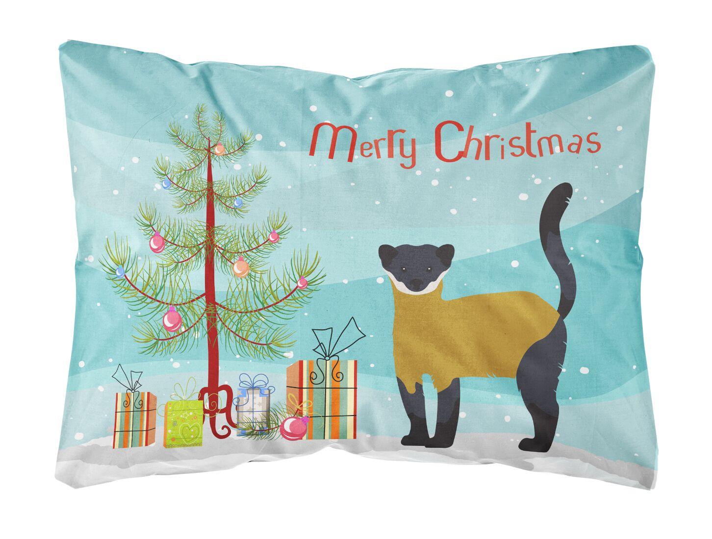 Dunshee Throated Marten Christmas Indoor/Outdoor Throw Pillow