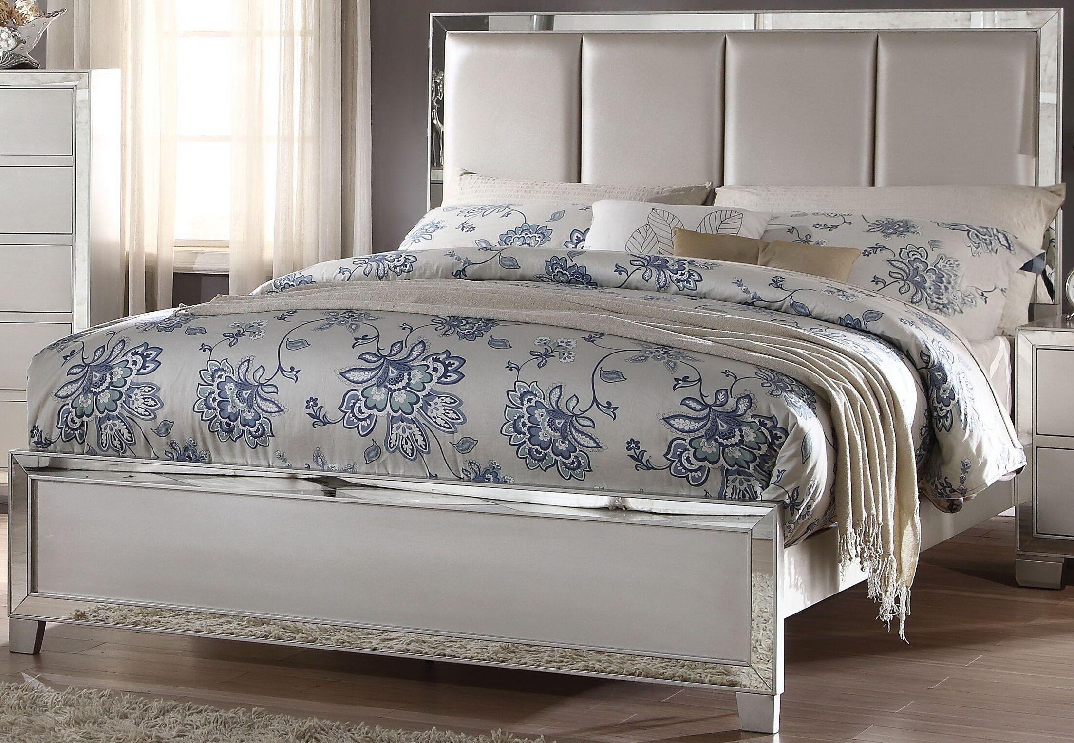 Lancelot Upholstered Panel Bed Size: King