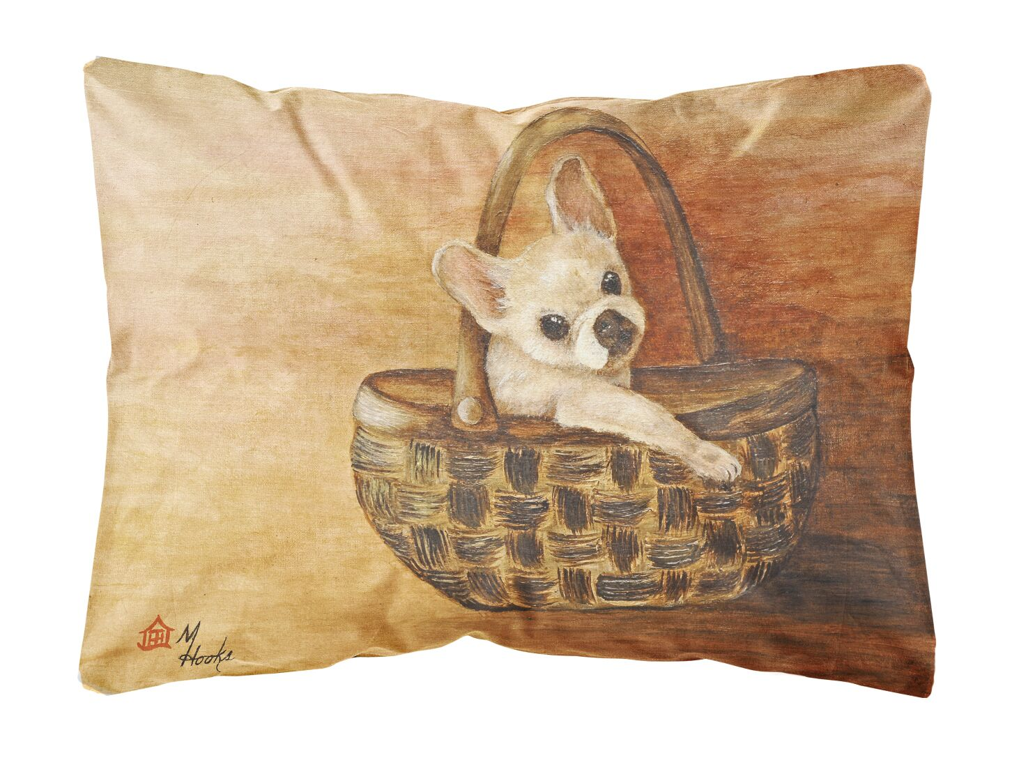 Malone French Bulldog Take Me Too Fabric Indoor/Outdoor Throw Pillow