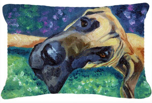 Shevlin Great Dane Hard Day Fabric Indoor/Outdoor Throw Pillow