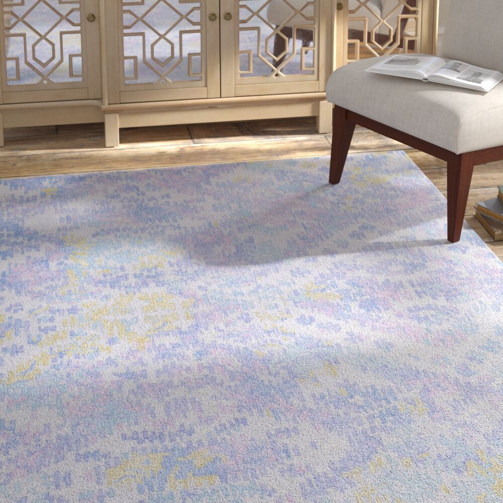 Knowland Hand-Tufted Wool Denim/Blue Area Rug Rug Size: Rectangle 5' x 7'6