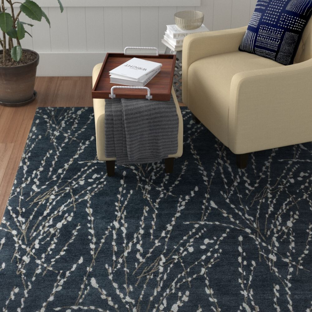 Bandhe Hand-Knotted Midnight Area Rug Rug Size: Rectangle 2' x 3'