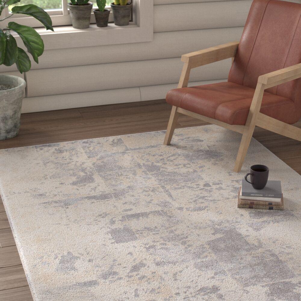 Longshore Medium Gray/Cream Area Rug Rug Size: Rectangle 2'7