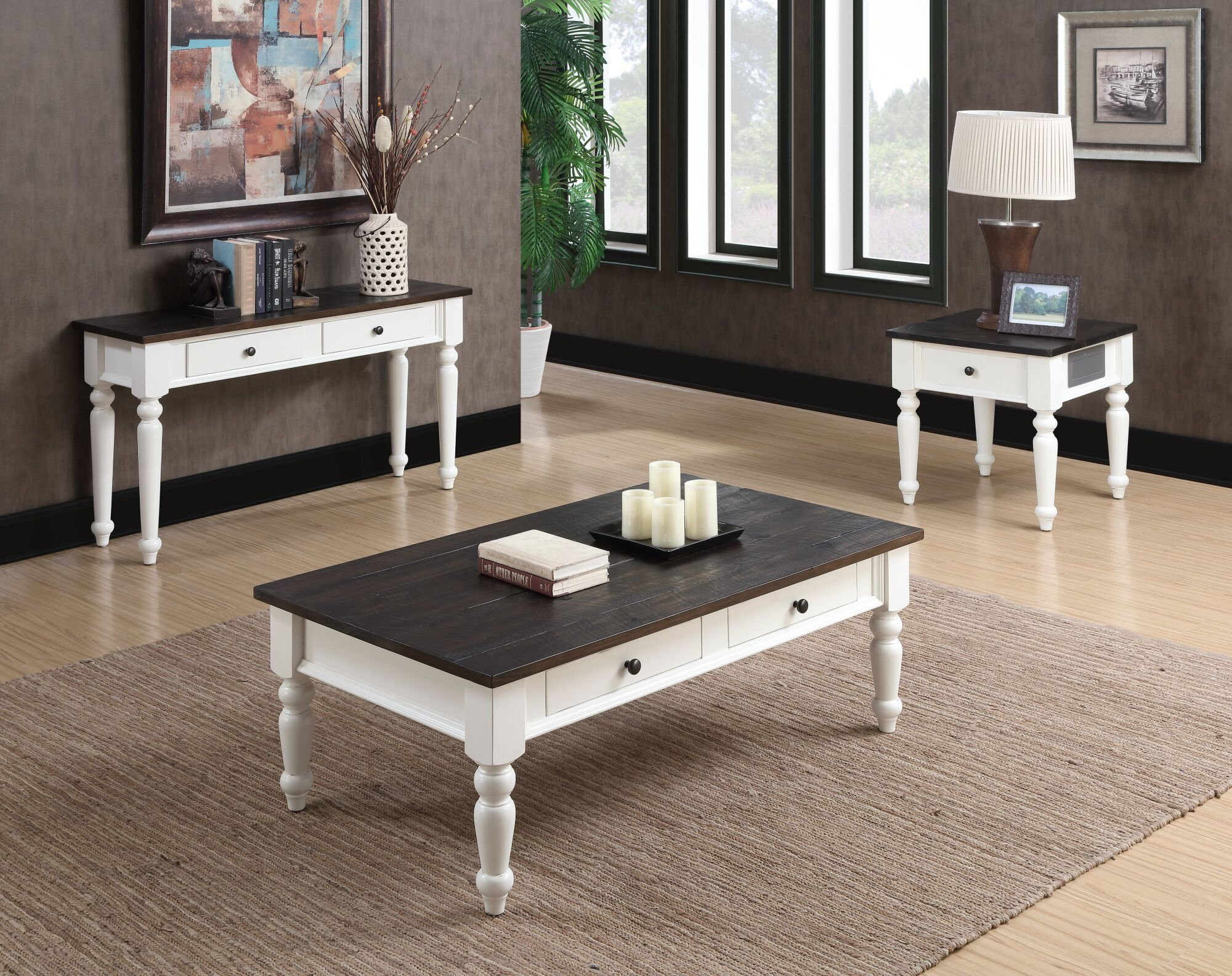 Mulford 3 Piece Coffee Table Set