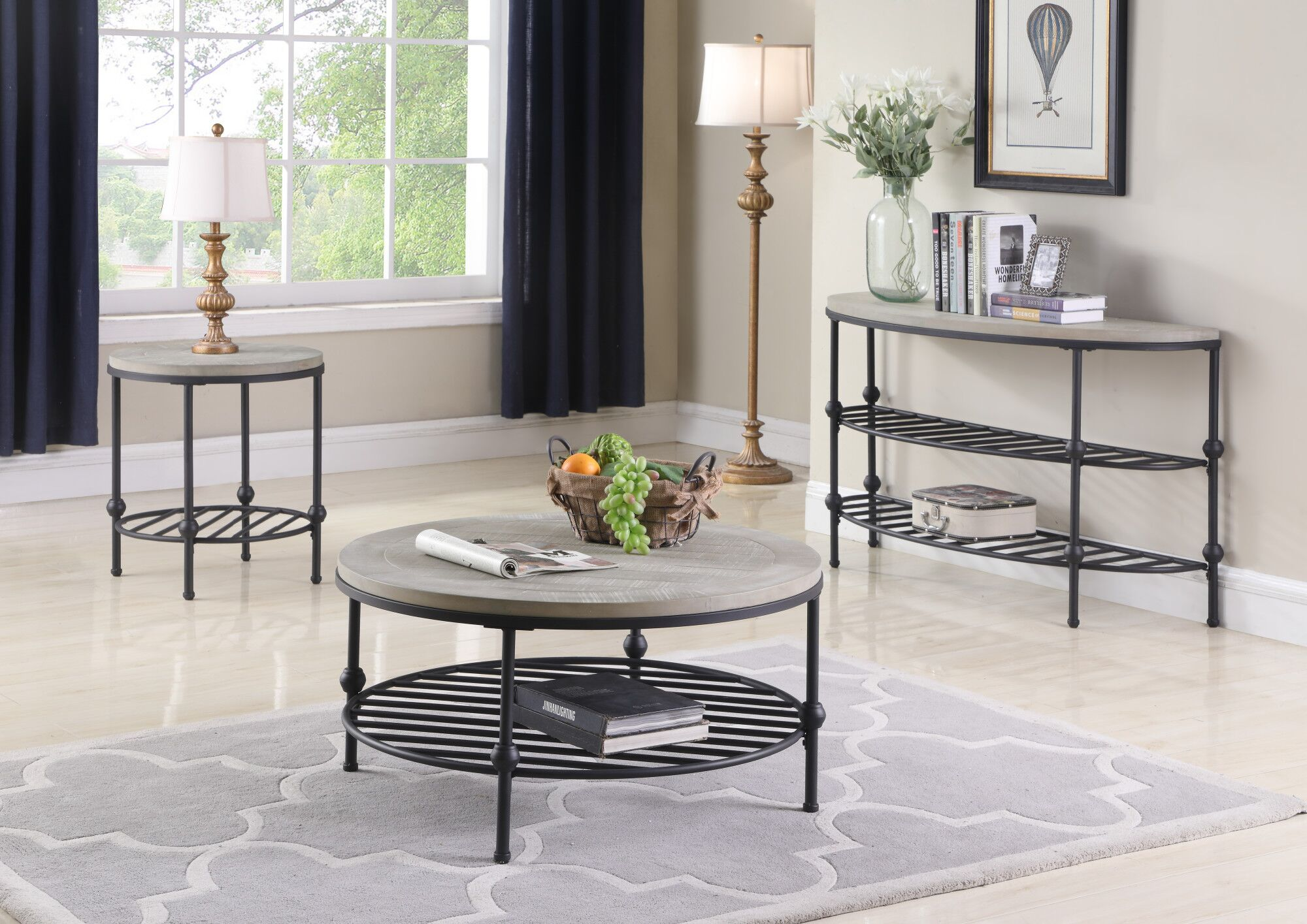 Connor 3 Piece Coffee Table Set