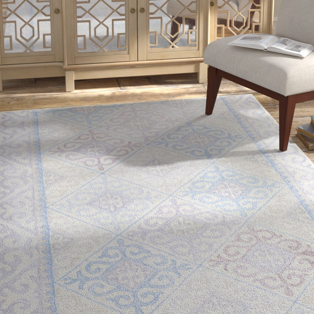 Knowland Hand-Tufted Wool Denim/Gray Area Rug Rug Size: Rectangle 5' x 7'6