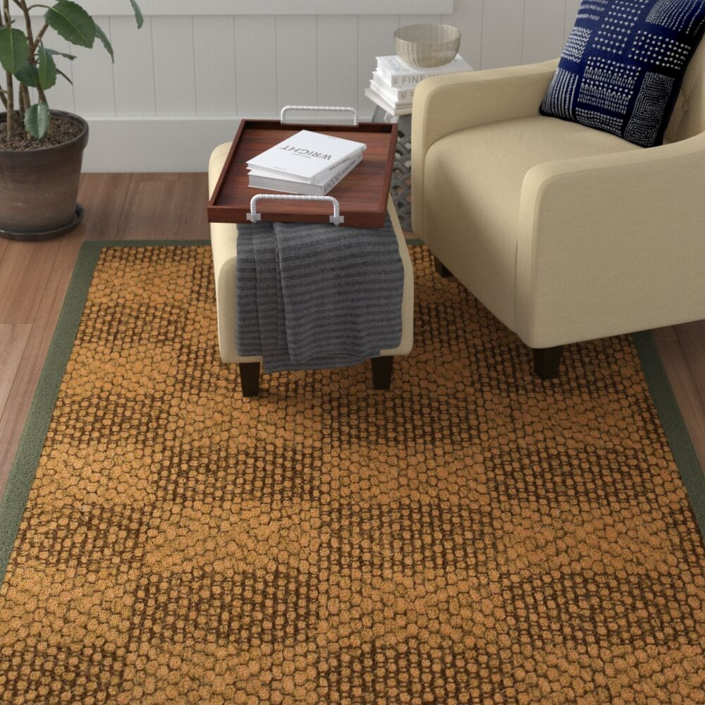 Hearne Hand Woven Brown Area Rug Rug Size: Runner 2'6